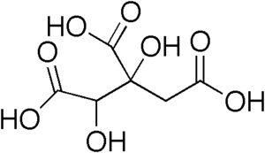 Chemical structure of hydroxycitric acid